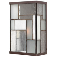 Hinkley Lighting Mondrian 1 Light Outdoor Wall Lantern in Buckeye Bronze 2150KZ photo thumbnail