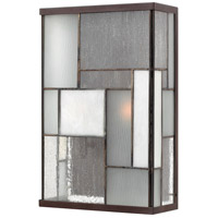 Mondrian 2 Light 14 inch Buckeye Bronze Outdoor Wall Lantern