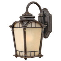 Hinkley Lighting Wellington 1 Light Outdoor Wall Lantern in Regency Bronze 2160RB-DS