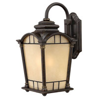 Hinkley Lighting Wellington 1 Light Outdoor Wall Lantern in Regency Bronze 2164RB