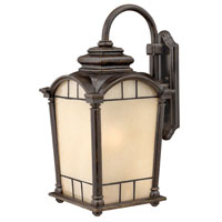 Hinkley Lighting Wellington 1 Light Outdoor Wall Lantern in Regency Bronze 2165RB-DS