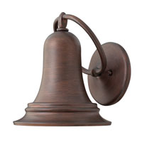Hinkley Lighting Liberty 1 Light Outdoor Wall Lantern in Victorian Bronze 2174VZ-ES