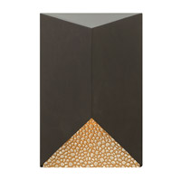 Vento 1 Light 9 inch Bronze Outdoor Wall in GU10