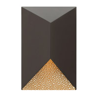 Vento 1 Light 12 inch Bronze Outdoor Wall in GU10
