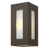 Hinkley 2190BZ-GU24 Dorian 1 Light 12 inch Bronze Outdoor Wall in GU24, White Etched Glass