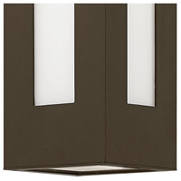 Hinkley 2190BZ Dorian 1 Light 12 inch Bronze Outdoor Wall Mount in Incandescent, White Etched Glass alternative photo thumbnail