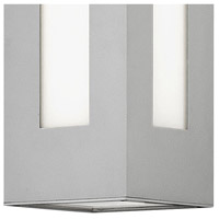 Hinkley 2190TT Dorian 1 Light 12 inch Titanium Outdoor Wall Mount in Incandescent, White Etched Glass alternative photo thumbnail
