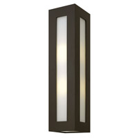 Hinkley 2195BZ-GU24 Dorian 1 Light 25 inch Bronze Outdoor Wall in GU24, White Etched Glass