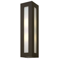 Hinkley 2195BZ Dorian 2 Light 24 inch Bronze Outdoor Wall Mount in Incandescent, White Etched Glass