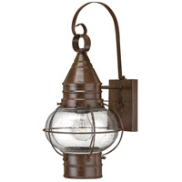 Hinkley 2200SZ-LED Cape Cod 1 Light 18 inch Sienna Bronze Outdoor Wall in LED, Clear Seedy Glass