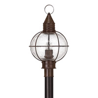 Hinkley Lighting Cape Cod 1 Light Post Lantern in Sienna Bronze with Clear Seedy Glass 2201SZ-LED