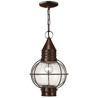 Cape Cod 1 Light 11 inch Sienna Bronze Outdoor Hanging in LED, Clear Seedy Glass