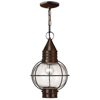Hinkley 2202SZ Cape Cod 1 Light 11 inch Sienna Bronze Outdoor Hanging Lantern in Incandescent photo thumbnail