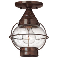 Cape Cod 1 Light 7 inch Sienna Bronze Outdoor Flush Mount in LED, Clear Seedy Glass