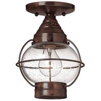 Hinkley Lighting Cape Cod 1 Light LED Outdoor Flush Mount in Sienna Bronze 2203SZ-LED