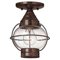 Cape Cod 1 Light 7 inch Sienna Bronze Outdoor Flush Lantern in Incandescent