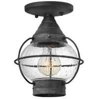 Hinkley Lighting Cape Cod 1 Light Outdoor Flush Lantern in Aged Zinc 2203DZ-LED