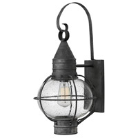 Hinkley 2204DZ Cape Cod 1 Light 23 inch Aged Zinc Outdoor Wall Mount in Incandescent