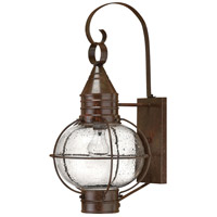 Hinkley 2204SZ-LED Cape Cod 1 Light 23 inch Sienna Bronze Outdoor Wall in LED, Clear Seedy Glass photo thumbnail
