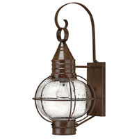 Hinkley Lighting Cape Cod 1 Light Outdoor Wall Lantern in Sienna Bronze 2204SZ