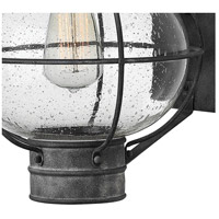 Hinkley 2204DZ Cape Cod 1 Light 23 inch Aged Zinc Outdoor Wall Mount  alternative photo thumbnail