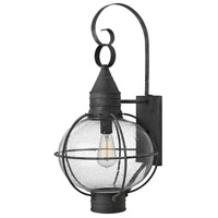 Hinkley 2205DZ Cape Cod 1 Light 27 inch Aged Zinc Outdoor Wall Mount in Incandescent
