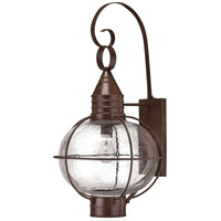 Hinkley 2205SZ-LED Cape Cod 1 Light 27 inch Sienna Bronze Outdoor Wall in LED, Clear Seedy Glass