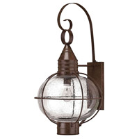 Hinkley Lighting Cape Cod 1 Light Outdoor Wall Lantern in Sienna Bronze 2205SZ