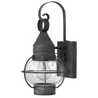 Hinkley 2206DZ Cape Cod 1 Light 14 inch Aged Zinc Outdoor Mini Wall Mount in Incandescent