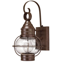 Hinkley 2206SZ-LED Cape Cod 1 Light 14 inch Sienna Bronze Outdoor Wall in LED, Clear Seedy Glass