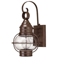 Hinkley 2206SZ Cape Cod 1 Light 14 inch Sienna Bronze Outdoor Mini Wall Mount in Incandescent