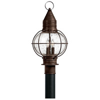 Hinkley 2207SZ Cape Cod 3 Light 21 inch Sienna Bronze Post Lantern in Incandescent, Post Sold Separately