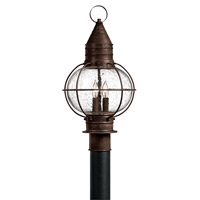 Hinkley Lighting Cape Cod 1 Light Post Lantern in Sienna Bronze with Clear Seedy Glass 2207SZ-LED