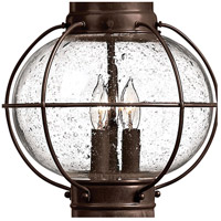 Hinkley 2207SZ Cape Cod 3 Light 21 inch Sienna Bronze Outdoor Post Mount in Incandescent, Post Sold Separately alternative photo thumbnail