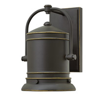 Hinkley Lighting Pullman 1 Light Outdoor Wall in Oil Rubbed Bronze 2210OZ