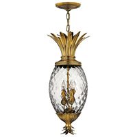 Hinkley Lighting Plantation 4 Light Hanging Foyer in Burnished Brass 2222BB