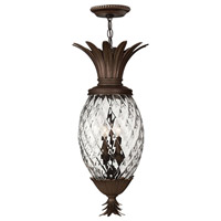 Hinkley 2222CB Plantation 4 Light 13 inch Copper Bronze Outdoor Hanging Light