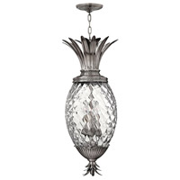 Hinkley 2222PL Plantation 4 Light 13 inch Polished Antique Nickel Hanging Foyer Ceiling Light