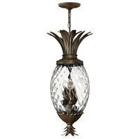 Hinkley 2222PZ Plantation 4 Light 13 inch Pearl Bronze Hanging Foyer Ceiling Light