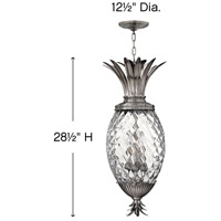 Hinkley 2222PL Plantation 4 Light 13 inch Polished Antique Nickel Foyer Pendant Ceiling Light, Large alternative photo thumbnail