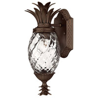Plantation 1 Light 14 inch Copper Bronze Outdoor Wall Lantern