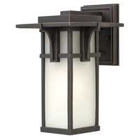 Manhattan 1 Light 12 inch Oil Rubbed Bronze Outdoor Wall in GU24