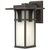 Manhattan 1 Light 12 inch Oil Rubbed Bronze Outdoor Wall Mount in Incandescent