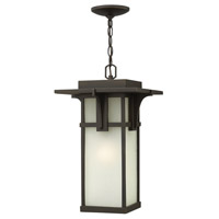 Manhattan 1 Light 11 inch Oil Rubbed Bronze Outdoor Hanging in GU24