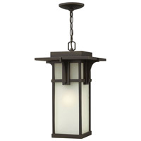 Manhattan 1 Light 11 inch Oil Rubbed Bronze Outdoor Hanging in LED