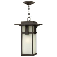 Hinkley 2232OZ Manhattan 1 Light 11 inch Oil Rubbed Bronze Outdoor Hanging Lantern in Incandescent