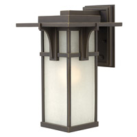 Manhattan 1 Light 15 inch Oil Rubbed Bronze Outdoor Wall in GU24