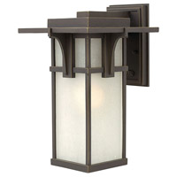 Hinkley 2234OZ Manhattan 1 Light 15 inch Oil Rubbed Bronze Outdoor Wall Mount in Incandescent Medium