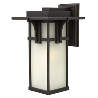 Manhattan 1 Light 19 inch Oil Rubbed Bronze Outdoor Wall in GU24