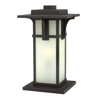 Hinkley 2237OZ-GU24 Manhattan 1 Light 19 inch Oil Rubbed Bronze Pier Mount Head in GU24, Etched Seedy Glass